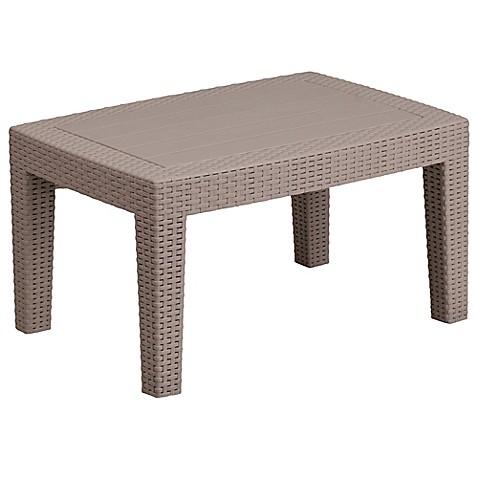 Flash Furniture Recangle AllWeather Faux Rattan Coffee Table In - Flash furniture coffee table