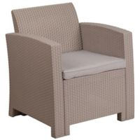 Flash Furniture All-Weather Chair Cushion in Charcoal