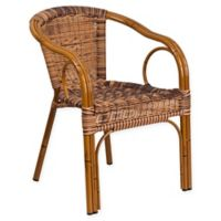 Flash Furniture Patio Chair in Burning Brown with Dark Red Frame