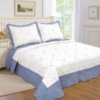 Dover King Quilt Set in Blue