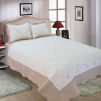 Dover Full/Queen Quilt Set in Taupe