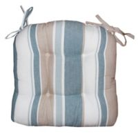 Park B. Smith Julian Stripe Tufted Chair Pad in Blue