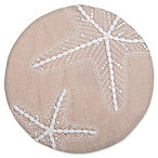 Shining Starfish Round Placemat in Beige