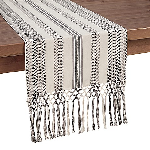 image of Salvador Embroidered Table Runner