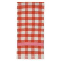 kate spade new york Color Pop Gingham Kitchen Towel in Red