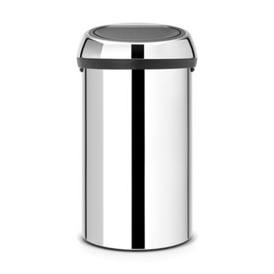 Brabantia 60 Liter Touch Trash Can In Brilliant Steel