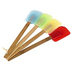 Bamboo and Silicone Spatulas (Set of 4)