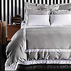Frette At Home Arno King Duvet Cover in Grey/White