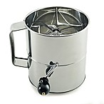 Norpro® Hand Crank 8-Cup Flour Sifter in Stainless Steel
