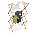 Honey-Can-Do® Wooden Laundry Drying Rack in White/Natural