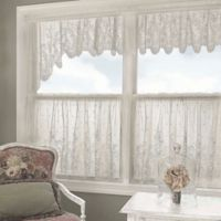 Heritage Lace® Floret Window Swag Pair in White