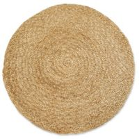 Fab Habitat Yellowstone 5' Round Area Rug in Tan