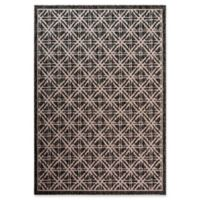 Fab Habitat Cambridge 4' x 5'7 Indoor/Outdoor Area Rug in Black/Tan