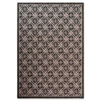 Fab Habitat Cambridge 7'9 x 10'9 Indoor/Outdoor Area Rug in Black/Tan