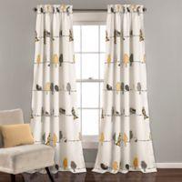 Lush Décor Rowley Birds 84-Inch Room Darkening Rod Pocket Window Curtain Panel in Yellow