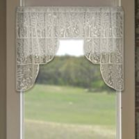 Heritage Lace® Rabbit Hollow 72-Inch Rod Pocket Swag Window Valance Pair in Café
