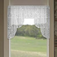 Heritage Lace® Rabbit Hollow 72-Inch Rod Pocket Swag Window Valance Pair in White