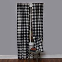 Heritage Lace® Buffalo Check 84-Inch Rod Pocket Window Curtain Panel in Navy