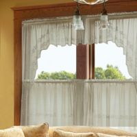 Heritage Lace® Sheer Divine 80-Inch x 63-Inch Window Swag Pair in Flax