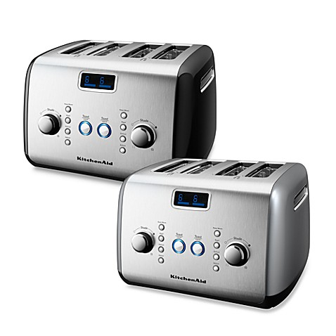 kitchenaid 4 slice digital motorized toaster bed bath beyond. Black Bedroom Furniture Sets. Home Design Ideas