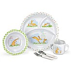 """Guess How Much I Love You"" 5-Piece Melamine Dish Set in Brown"