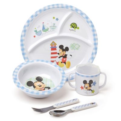 Disney® Baby Mickey Mouse 5-Piece Melamine Dish Set  sc 1 st  buybuy BABY & Disney Baby Dishes Utensils u0026 Food from Buy Buy Baby