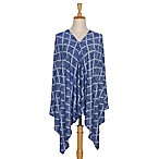 The Peanut Shell® 6-in-1 Nursing Poncho in Navy Aztec