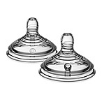 Tommee Tippee® Closer to Nature® 2-Pack Stage 1 Wide Neck Extra Slow Flow Nipples