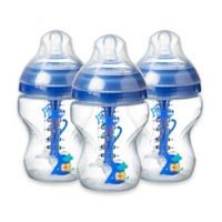 Tommee Tippee Advanced Anti-Colic 3-Pack 9 fl. oz. Decorated Baby Bottles in Blue