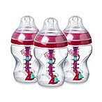 Tommee Tippee® 3-Pack 9 fl. oz. Advanced Anti-Colic Wide-Neck Bottle in Pink