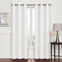 Lawson 84-Inch Grommet Top Room Darkening Window Curtain Panel Pair in White