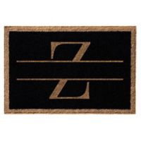 "Infinity Monogram Letter ""Z"" 3' x 6' Door Mat in Black"