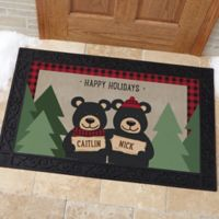 Holiday Bear Family 20-Inch x 35-Inch Multicolor Door Mat