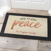 Cozy Christmas 20-Inch x 35-Inch Multicolor Door Mat