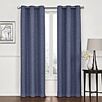 Lawson 84-Inch Grommet Top Room Darkening Window Curtain Panel Pair in Denim