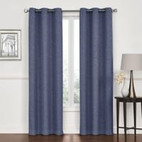 Lawson 108-Inch Grommet Top Room Darkening Window Curtain Panel Pair in Denim
