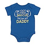 "Baby Starters® Size 3M ""I Got These Muscles from My Daddy"" Bodysuit in Blue"