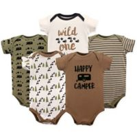 Luvable Friends® Size 18-24M 5-Pack Happy Camper Bodysuit