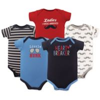 Luvable Friends® Size 9-12M 5-Pack Hunk Bodysuit