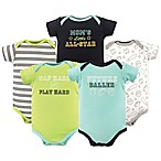 Luvable Friends Size 0-3M 5-Pack Sports Short Sleeve Bodysuit