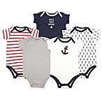 Luvable Friends® Size 6-9M 5-Pack Nautical Hanging Bodysuits in Navy/Red