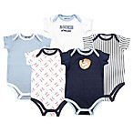 Luvable Friends Size 3-6M 5-Pack Baseball Short Sleeve Bodysuit
