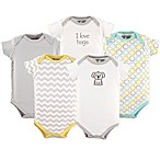 Luvable Friends® Size 0-3M 5-Pack Koala Bodysuit