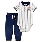 carter's® Size 3M 2-Piece  Cute Athletics  Bodysuit and Pant Set in Ivory/Blue
