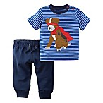 carter's® Size 3M 2-Piece Super Dog Shirt and Pant Set in Navy