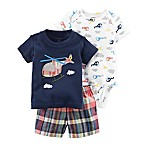 carter's® Size 3M 3-Piece Helicopter Bodysuit, T-Shirt and Short Set in Navy