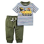 carter's® Newborn 2-Piece Construction Shirt and Jogger Pant Set