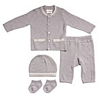Cuddl Duds® Newborn 5-Piece Take Me Home Cardigan, Pant, Hat, and Sock Set in Grey