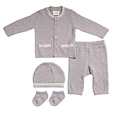 Cuddl Duds® 5-Piece Take Me Home Cardigan, Pant, Hat, and Sock Set in Grey