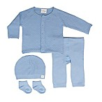 Cuddl Duds® Size 3M 5-Piece Take Me Home Cardigan, Pant, Hat, and Sock Set in Blue